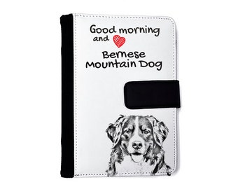 Bernese Mountain Dog- Notebook with the calendar of eco-leather with an image of a dog! NEW COLLECTION!