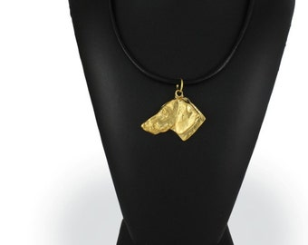 Teckel (no coat), Dachshund smoothhaired, millesimal fineness 999, dog necklace, limited edition, ArtDog
