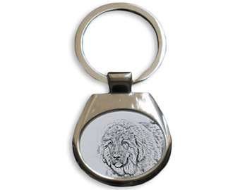 Tibetan Mastiff - NEW collection of keyrings with images of purebred dogs, unique gift, sublimation . Dog keyring for dog lovers
