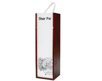 Shar-Pei - Wine box with an image of a dog.