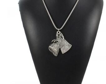 NEW, Scotisch Terrier, dog necklace, silver cord 925, limited edition, ArtDog