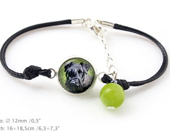 Cesky Terrier. Bracelet for people who love dogs. Photojewelry. Handmade.