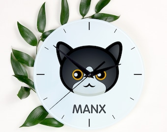 A clock with a Manx cat. A new collection with the cute Art-Dog cat