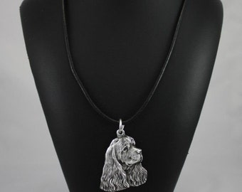 American Cocker Spaniel, Cocker Spaniel (in USA), Merry Cocker, dog necklace, limited edition, ArtDog