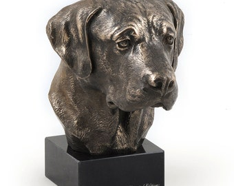 Labrador Retriever, dog marble statue, limited edition, ArtDog. Made of cold cast bronze. Perfect gift. Limited edition