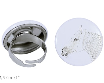 Ring with a horse - Boulonnais