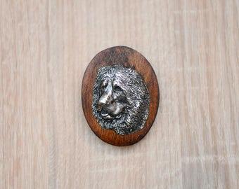 Caucasian Shepherd Dog, dog show ring clip/number holder, limited edition, ArtDog