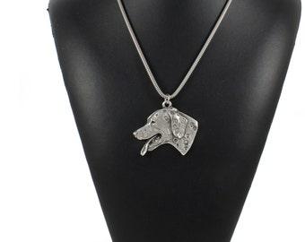 NEW, Dalmatian, dog necklace, silver cord 925, limited edition, ArtDog