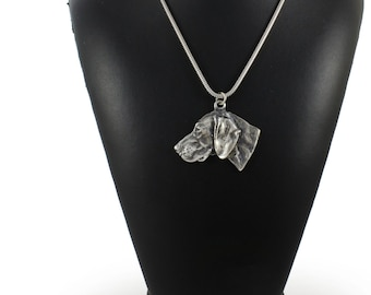 NEW, Weimaraner, Weimaraner Vorstehhund, dog necklace, silver cord 925, limited edition, ArtDog