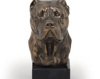 Cane Corso, dog marble statue, limited edition, ArtDog. Made of cold cast bronze. Perfect gift. Limited edition