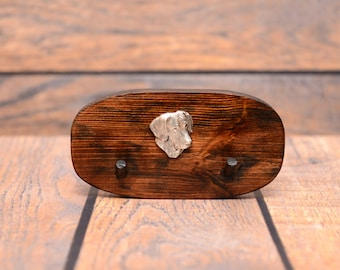Rhodesian Ridgeback - Unique wooden hanger with a relief of a purebred dog. Perfect for a collar, harness or leash.