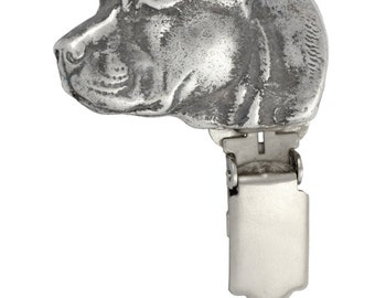 American Staffordshire Terrier, dog clipring, dog show ring clip/number holder, limited edition, ArtDog