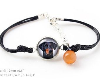 Dobermann. Bracelet for people who love dogs. Photojewelry. Handmade.