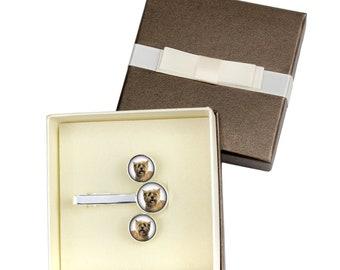 Cairn Terrier. Jewelry for dog lovers. Cufflinks and tie pin . Photo jewellery. Men's jewellery. Handmade