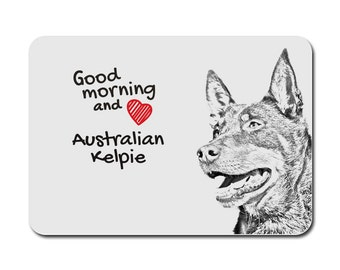 Australian Kelpie , A mouse pad with the image of a dog. Collection!