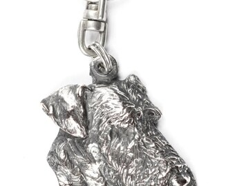 NEW, Airedale Terrier, dog keyring, key holder, limited edition, ArtDog . Dog keyring for dog lovers