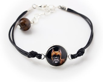 Boxer. Bracelet for people who love dogs. Photojewelry. Handmade.