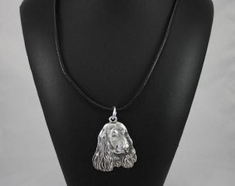 English Cocker Spaniel, dog necklace, limited edition, ArtDog