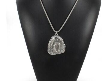 NEW, Shih Tzu, dog necklace, silver cord 925, limited edition, ArtDog