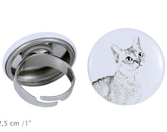 Ring with a cat - Singapura cat