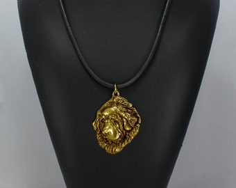 Tibetan Mastiff, millesimal fineness 999, dog necklace, limited edition, ArtDog