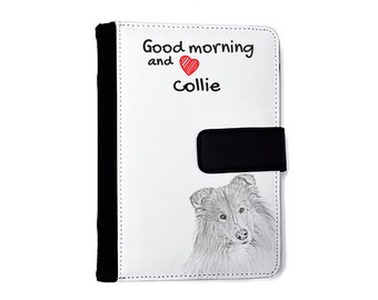 Collie- Notebook with the calendar of eco-leather with an image of a dog! NEW COLLECTION!