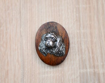 Cavalier King Charles Spaniel, dog clipring, dog show ring clip/number holder, limited edition, ArtDog