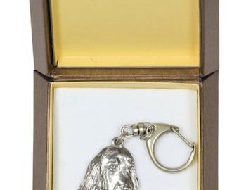 NEW, English Cocker Spaniel, dog keyring, key holder, in casket, limited edition, ArtDog . Dog keyring for dog lovers