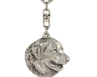 Leonberger, dog keyring, keychain, limited edition, ArtDog . Dog keyring for dog lovers