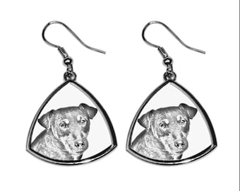 Jagdterrier- NEW collection of earrings with images of purebred dogs, unique gift