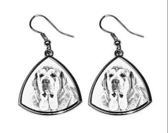 SPANISH MASTIFF- NEW collection of earrings with images of purebred dogs, unique gift