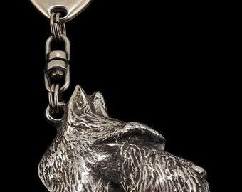 Scottisch Terrier, dog keyring, keychain, limited edition, ArtDog . Dog keyring for dog lovers