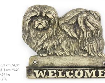 Pekignese, dog welcome, hanging decoration, limited edition, ArtDog