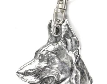NEW, Doberman Pinscher, dog keyring, key holder, limited edition, ArtDog . Dog keyring for dog lovers