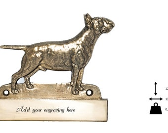 Bullterrier, dog plaque, can be engraved, limited edition, ArtDog