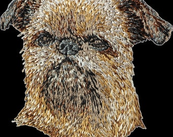 Griffon Bruxellois - Embroidery, patch with the image of a pedigree dog.