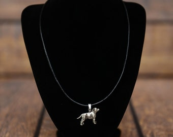 Staffordshire Bull Terrier , dog necklace, limited edition, extraordinary gift, ArtDog