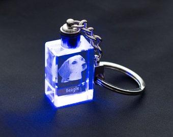 Beagle, Dog Crystal Keyring, Keychain, High Quality, Exceptional Gift . Dog keyring for dog lovers