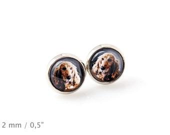 English Cocker Spaniel. Pet in your ear. Earrings. Photojewelry. Handmade.