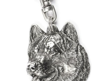 NEW, Alaskan Malamute, Mal or Mally, dog keyring, key holder, limited edition, ArtDog . Dog keyring for dog lovers