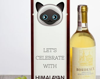 Let's celebrate with Himalayan cat. A wine box with the cute Art-Dog cat