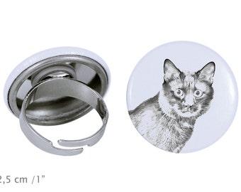 Ring with a cat - Kurilian Bobtail