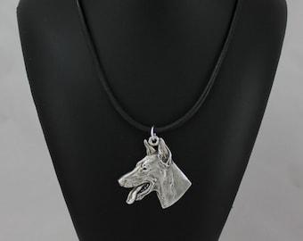 Doberman Pinscher (toungue), dog necklace, limited edition, ArtDog