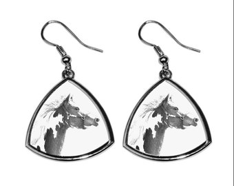 American Paint Horse, collection of earrings with images of purebred horses, unique gift. Collection!