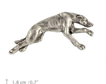 Greyhound, dog pin, limited edition, ArtDog