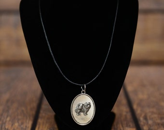 Chow chow, dog necklace, medallion, limited edition, extraordinary gift, ArtDog