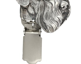 Schnauzer (uncropped), dog clipring, dog show ring clip/number holder, limited edition, ArtDog