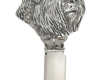 Bouvier, dog clipring, dog show ring clip/number holder, limited edition, ArtDog