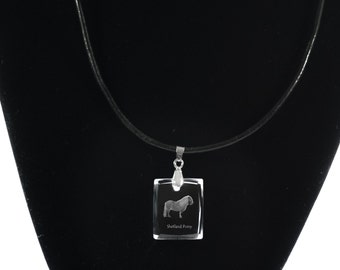 Shetland pony,  Horse Crystal Necklace, Pendant, High Quality, Exceptional Gift, Collection!