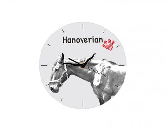 Hanoverian , Free standing MDF floor clock with an image of a horse.